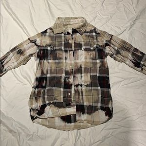 Urban outfitters tie dye wash flannel